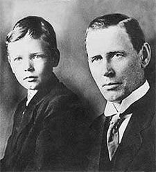 Charles Lindbergh and his father